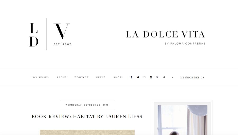 La Dolce Vida Blog Header