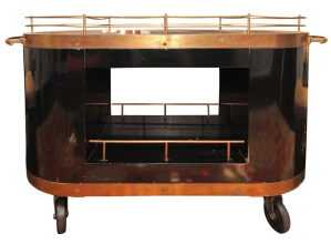 Vintage Train Bar Cart