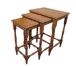 Vintage Hand-Painted Nesting Tables