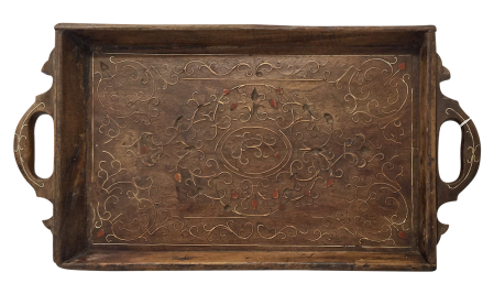 Indian Wooden Service Tray