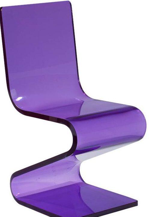 Purple Acrylic Z Chair