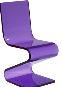 Purple Acrylic Z Chair