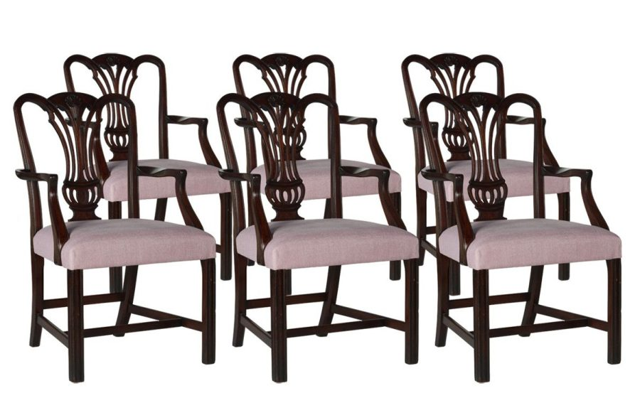 purple chippendale chairs