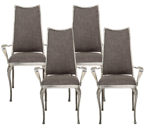 Hollywood Regency Aluminum Side Chairs