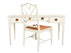 Hollywood Regency White Desk