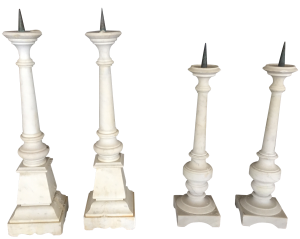 Decorative Objects Antique Marble Candlesticks