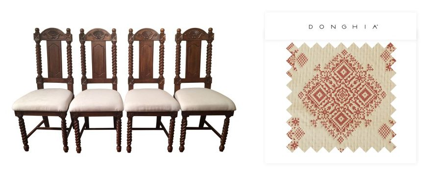 Fabric Dining Chairs Collage