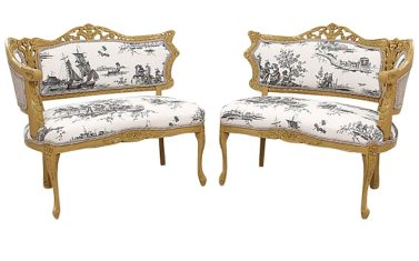 French Toile Settees