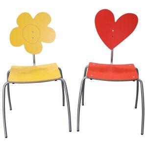 Janus et Cie Flower Heart Chairs