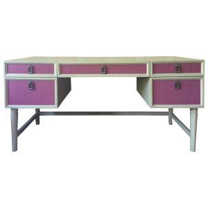 Modern Pink Oak Desk