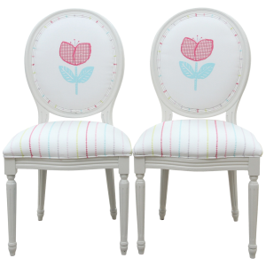 Vintage Louis Flower Chairs