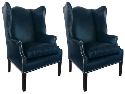 viyet-color-blue-wingback-chairs