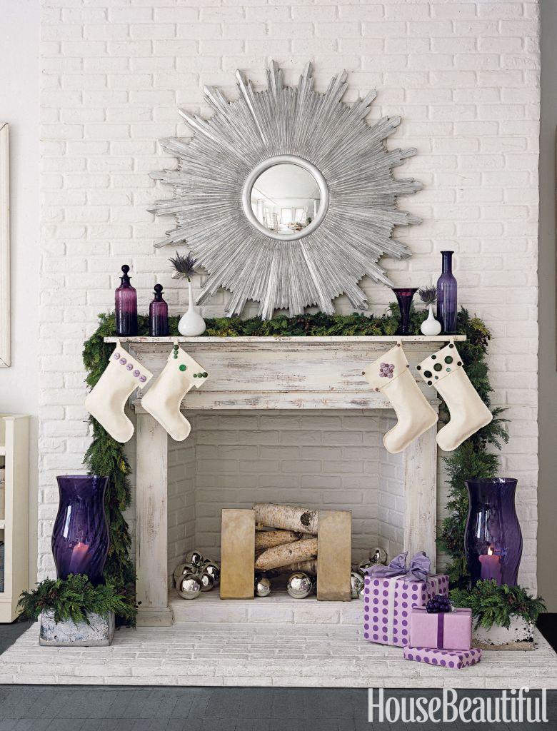 viyet-holiday-fireplace-white-and-purple