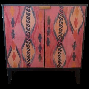 Custom Ikat Cabinet