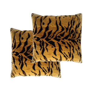 Scalamandre Animal Print Velvet Pillows
