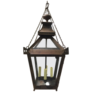 Vintage Glass Bottom French Lantern