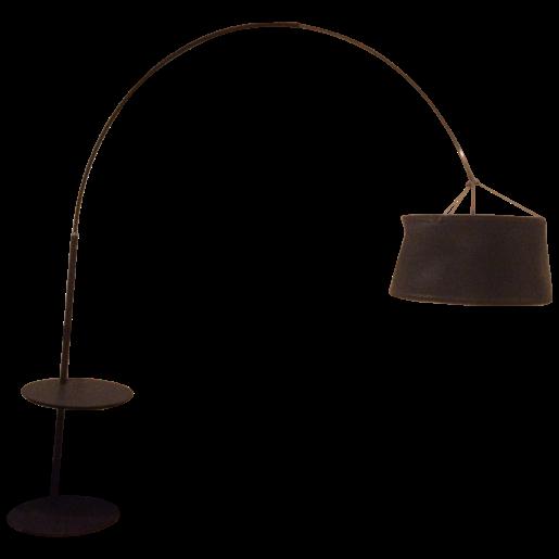 Roche Bobois Leather Arc Floor Lamp