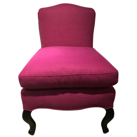 viyet-pink-red-henredon-chair