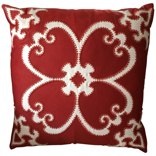 viyet-red-and-pink-clover-pillow