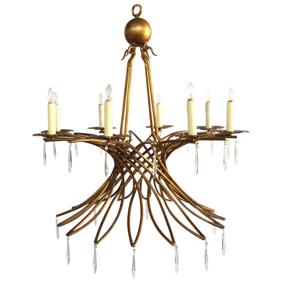 viyet-wrought-iron-chandelier