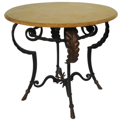 viyet-wrought-iron-round-pied-dining-table
