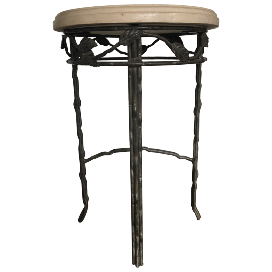 Viyet 8 wrought iron pieces with personality v i y e t for Wrought iron side table
