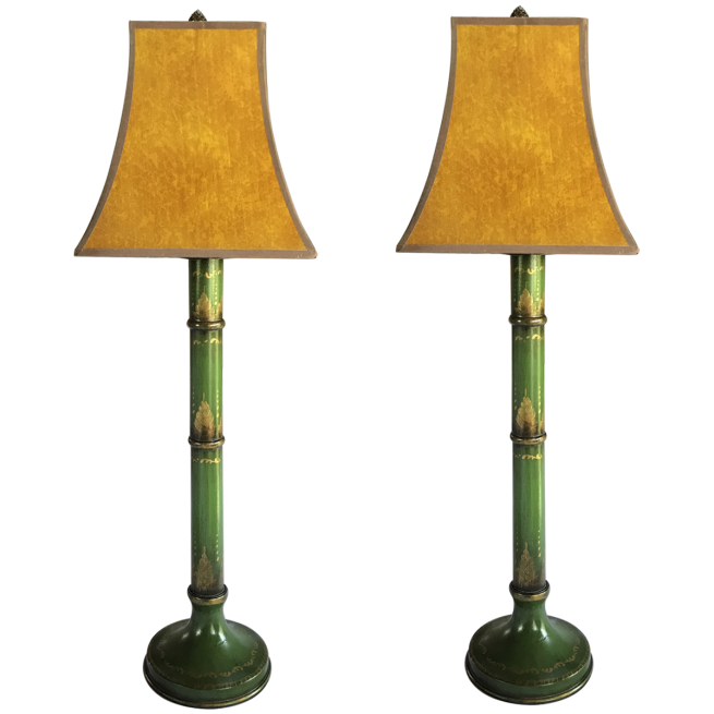 Viyet 8 wild about rattan wicker v i y e t antique painted bamboo table lamps aloadofball Images