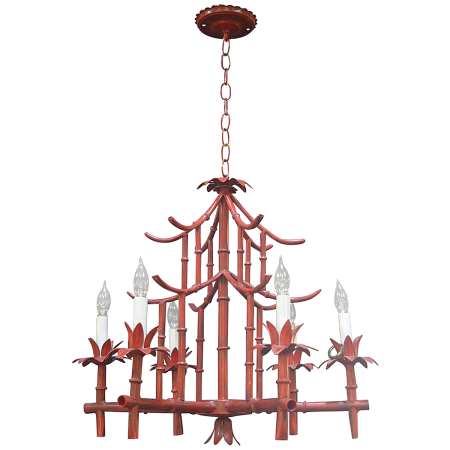 All about collecting chinoiserie v i y e t vintage 1940s chinoiserie six light chandelier aloadofball Choice Image